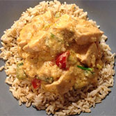 Thai chicken curry with brown rice